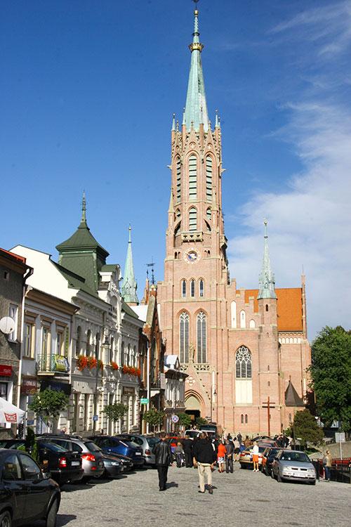 Grybów - rynek, kościół św. Katarzyny