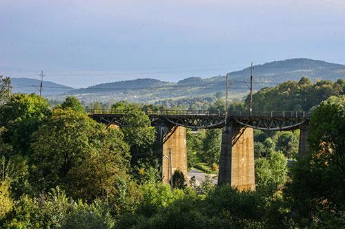 Grybów, wiadukt kolejowy
