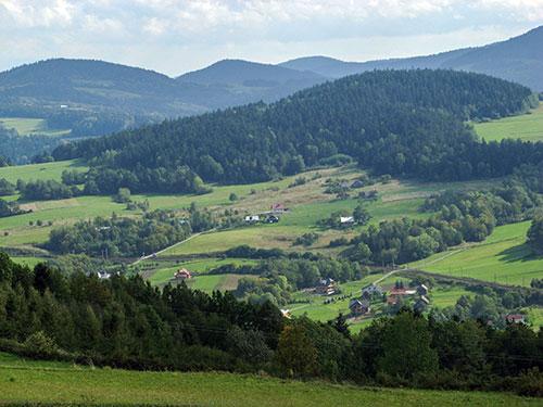 Wojciechowa Góra, widok na Koziniec