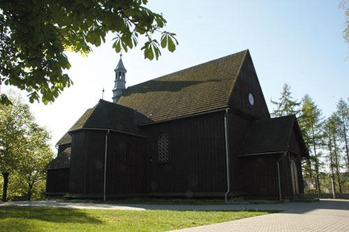 Wilczyska, zabytkowy kościół